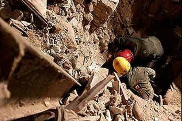 ریزش آوار در زمین گودبرداری شده در زعفرانیه، یک نفر گرفتار شد