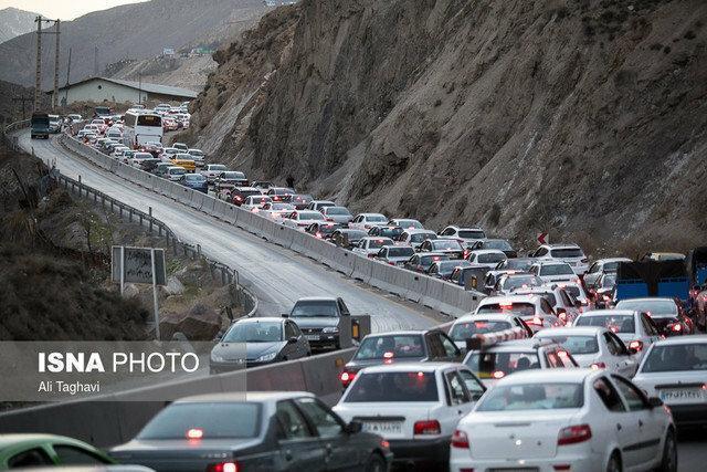 وضعیت معکوس چالوس و هزار نسبت به فیروزکوه و قزوین - رشت
