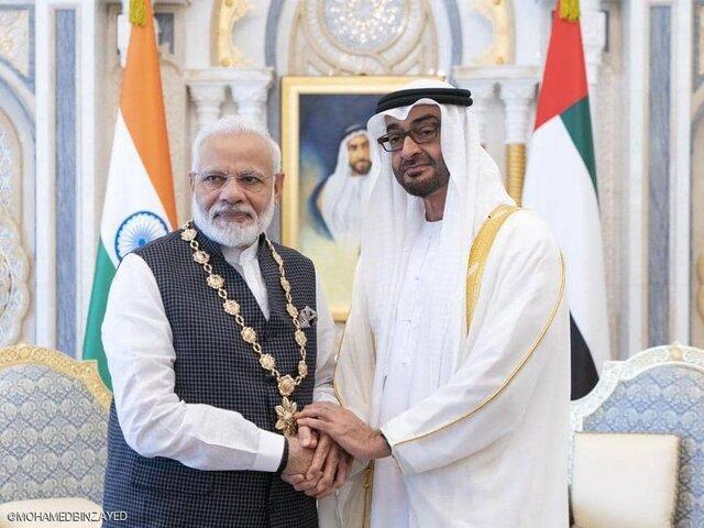 اعطای بالاترین نشان امارات به نخست وزیر هند با وجود سرکوب ها در کشمیر