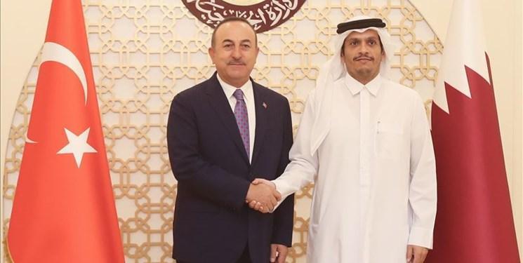 دیدار وزیر خارجه ترکیه با همتای قطری، سفر منوشین به دوحه