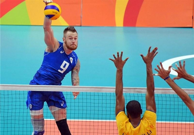 تصاویر دیدنی ملاقات تیم های والیبال ایتالیا و برزیل