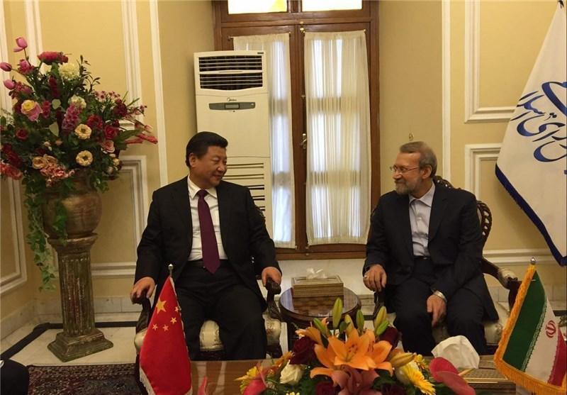 رئیس جمهور چین با لاریجانی ملاقات کرد