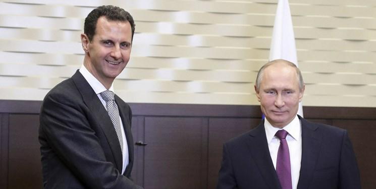 پیام تبریک پوتین به اسد؛ ابراز امیدواری برای برقراری صلح در سوریه در سال 2020