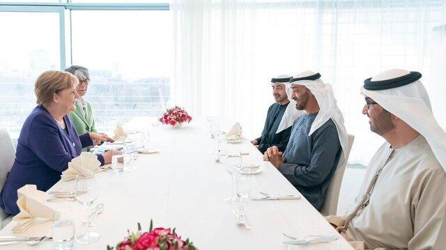 گفت وگوی ولیعهد ابوظبی و آنگلا مرکل درباره لیبی