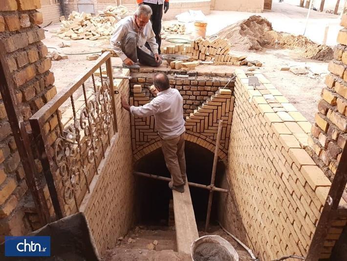 آب انبار طالب اردکان بازسازی شد