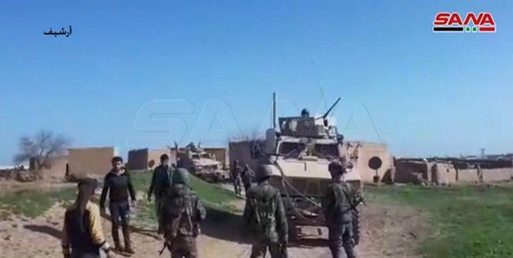 ارتش سوریه راه عبور کاروان های نظامیان آمریکایی در غرب الحسکه را سد کرد