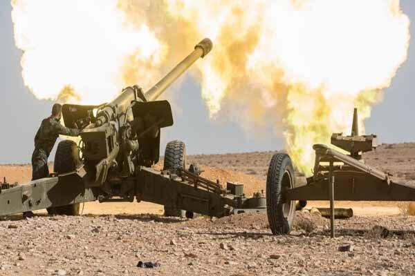 نبرد سنگین نیروهای سوری با داعش در صحرای سوریه