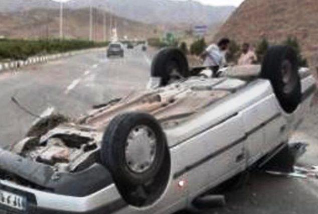 واژگونی مرگبار خودرو پژو پارس در جهرم