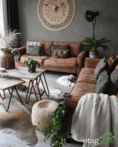 استفاده از تم قهوه ای دکوراسیون خانه در منازل مدرن امروزی برای جلوه بخشی بیشتر