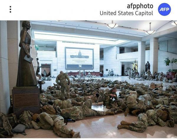 سونامی کرونا بین سربازان اعزامی گارد ملی به پایتخت آمریکا