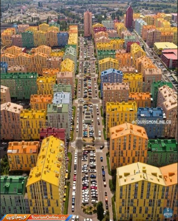 ساختمان های رنگی شهر کی یف اوکراین