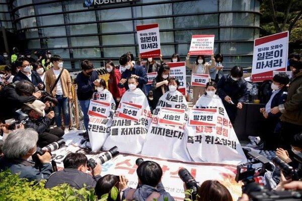 دانشجویان معترض کره ای موی سر خود را تراشیدند